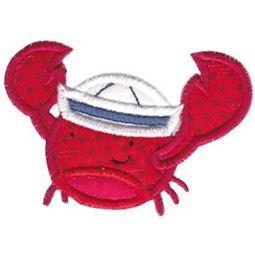 Sailor Hat Crab Applique