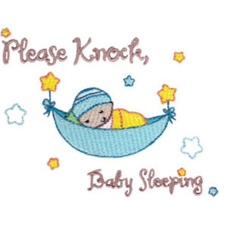 Please Knock Baby Sleeping