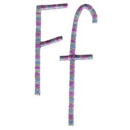 Slender Alphabet f
