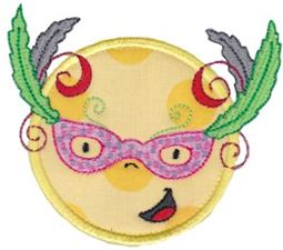 Smiley Face Halloween Applique 11