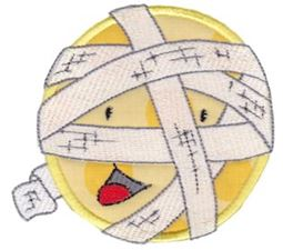 Smiley Face Halloween Applique 13