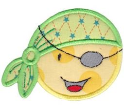 Smiley Face Halloween Applique 14