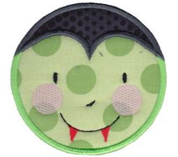 Smiley Face Halloween Applique 18