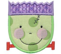 Smiley Face Halloween Applique 7