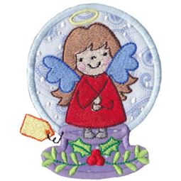 Applique Angel Snowglobe