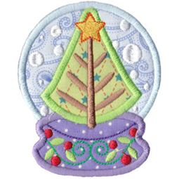 Applique Tree Snowgloble