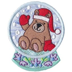 Applique Bear Snowglobe