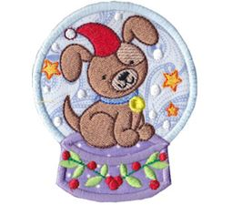 Snowglobes Applique 4