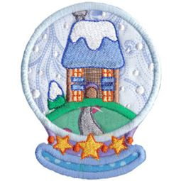 Applique House Snowglobe