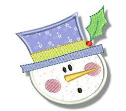 Snowman Soup Applique 4