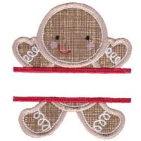 Split Gingerbread Man Applique