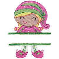 Split Girl Elf Applique