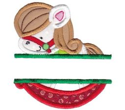 Split Rocking Horse Applique