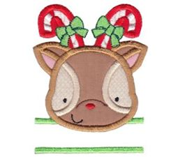 Split Reindeer Applique