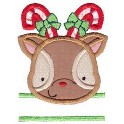Split Reindeer Applique