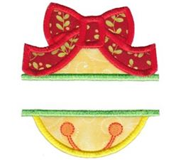 Split Christmas Bell Applique