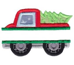 Split Christmas Truck Applique