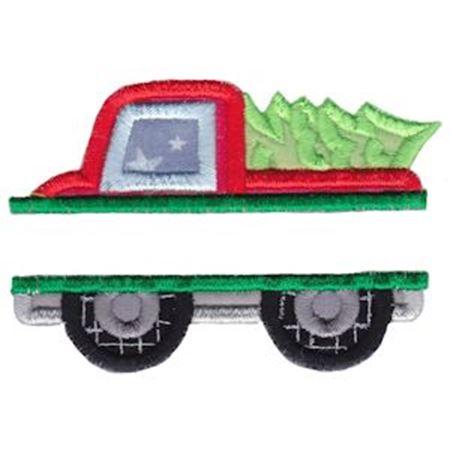 Split Christmas Truck Applique