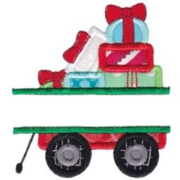 Split Wagon And Gifts Applique