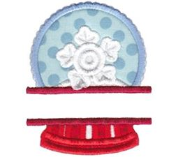 Split Snow Globe Applique