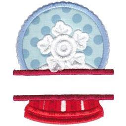 Split Snow Globe Applique