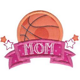 Basketball Mom Applique