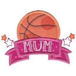 Basketball Mum Applique