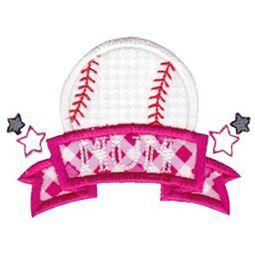 Baseball Mum Applique