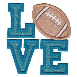 Love Football Applique