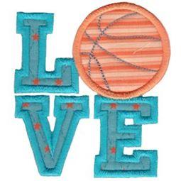 Love Basketball Applique