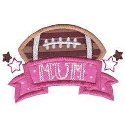 Football Mum Applique