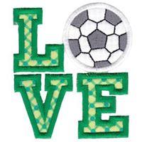 Love Soccer Applique