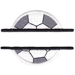 Split Soccer Ball Applique