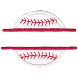 Split Baseball Applique