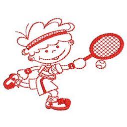 Sporty Boys Redwork 6