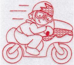 Sporty Boys Redwork Too 11