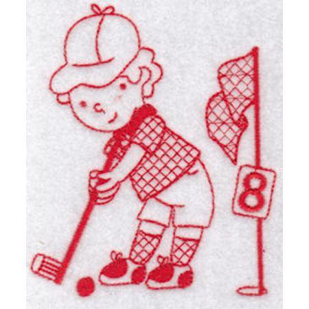 Sporty Boys Redwork Too 8
