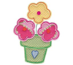 Spring Love Hearts Applique 15