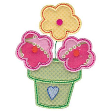 Spring Love Hearts Applique 15