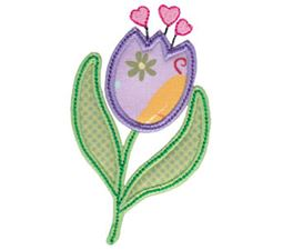 Spring Love Hearts Applique 16