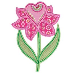 Spring Love Hearts Applique 18