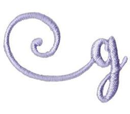 Starstruck Alphabet Left Tail g