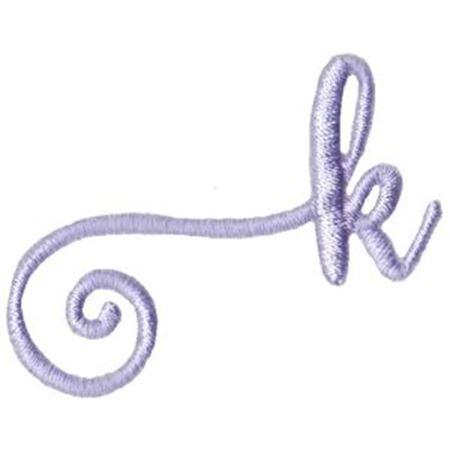 Starstruck Alphabet Left Tail k