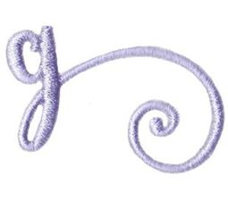 Starstruck Alphabet Right Tail g