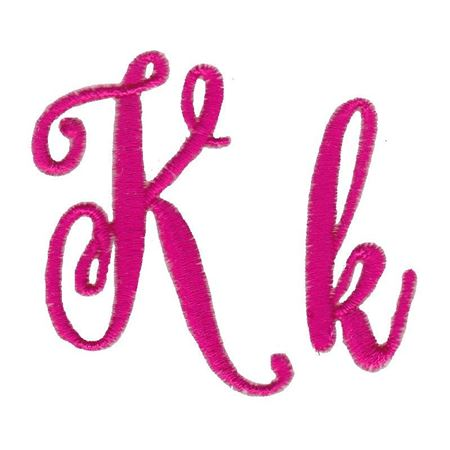 Steelheart Embroidery Font K