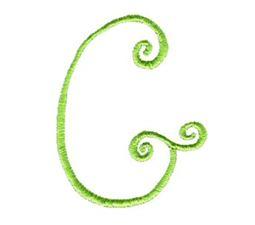 Swirly Alphabet Capital G