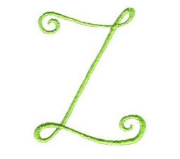 Swirly Alphabet Capital Z