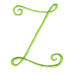 Swirly Alphabet Capital Z