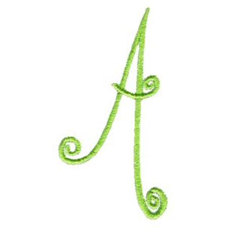 Swirly Alphabet Capital A