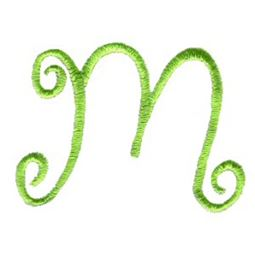 Swirly Alphabet Lower Case m